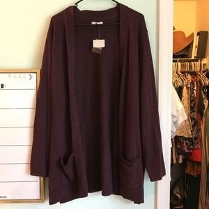 Croft & Barrow Plum Cardigan
